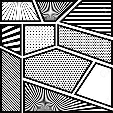 行ベクトル イラスト Pop アートの背景モノクロ抽象