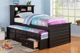 ... Kids Furniture, Trundle Bed For Kids Trudle Bed With Storage Drawers Kids  Trundle Beds And ...