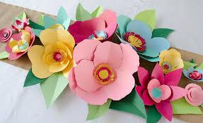 Paper Flower Decor Diy Hand Cut Paper Flowers Project Nursery