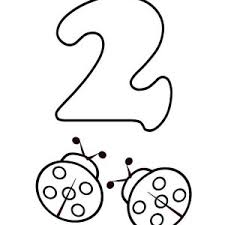 Small Picture Kids Learn Number 2 with Two Ladybugs Coloring Page Bulk Color