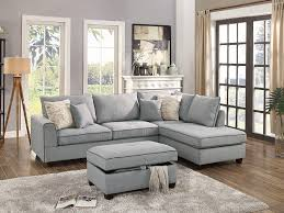 Light Grey Couch Set Amazon Com Modern 3pc Sectional Sofa Living Room Furniture
