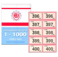 Raffle Ticket Booklets Raffle Ticket Book 1 1000 Assorted Colours
