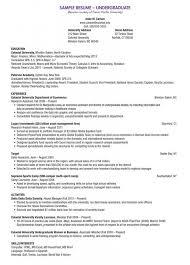 Undergraduate Resume Template Adorable Undergraduate Resume Template Best Cover Letter