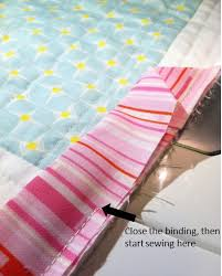 Binding & Blind Stitching Tutorial | Quilting in the Rain & Step 6 – Continue sewing the binding to your quilt top. Use pins to help  keep the binding in place. When you get to the corners, do the following  four steps ... Adamdwight.com