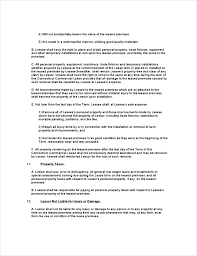 Basic Rental Agreement Template Simple Land Lease Agreement Template