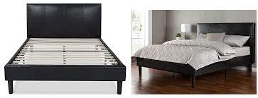 zinus deluxe faux leather platform bed frame queen 149 reg 189 king 179 reg 239 full 139 reg 179 free
