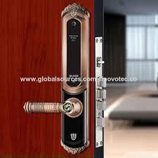 digital office door handle locks. China Keyless Keypad Digital Biometric Fingerprint Smart Door Lock With  Auto Sliding Cover For Home/ Digital Office Door Handle Locks B