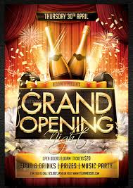 bar grand opening flyer 41 grand opening flyer template free psd ai vector eps format