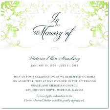Memorial Service Invitation Template Mesmerizing Funeral Announcements Template Best Template Ideas