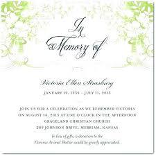 Memorial Service Invitation Template Mesmerizing Funeral Announcements Template Best Template Ideas