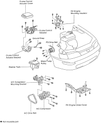 24 exploded view of the timing belt and cover 4a fe and 7a fe engines