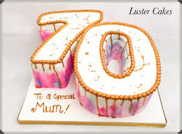 70th Birthday Cake Luster Cakes Best Cake Maker Decorator And
