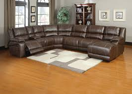 6 pieces saddle brown bonded leather reclining sofa sectional chaise within leather recliner corner sofa