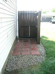 fence to hide e cans idea for hiding the outside small trash can how outdoor potting