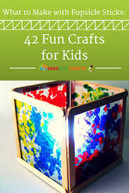 What to Make with Popsicle Sticks: 42 Fun Crafts for Kids You kids will be  amazed at how many different easy crafts for kids they can make with just a  ...