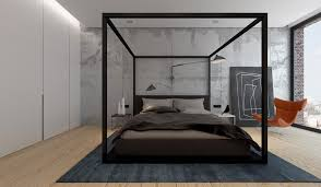Image of: Contemporary Canopy Bed Frame