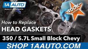How to Replace Head Gaskets on a 350 5.7L Small Block Chevy Engine ...