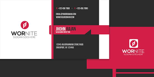 business card tamplate ps wornite
