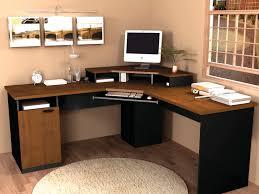 large office desks. Interesting Home Office Desks Design Black Wood. And Brown Pine Wood Corner Large O