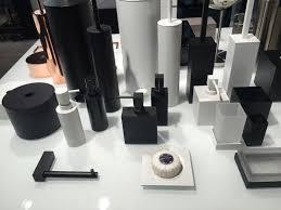 Bathroom Black White And Glass Bathroom Accessories Set
