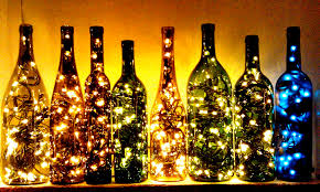 How To Decorate A Wine Bottle For Christmas Recycled Wine Bottle Lights Make Great Christmas Decorations DMA 54