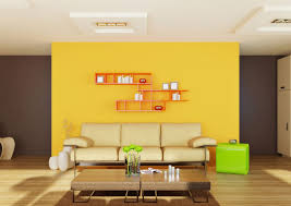 contemporary furniture ideas. Yellow Living Room Color Ideas With Contemporary Furniture Design And Wall Shelves R