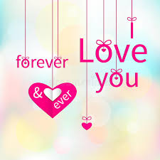 i love you forever ever stock vector ilration of defocus 37482173