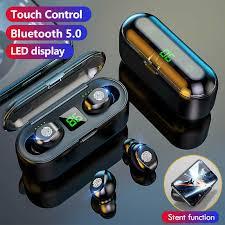 <b>Olaf</b> Oringinal F9 V5.0 <b>Bluetooth 5.0 Earphones</b> TWS Fingerprint ...