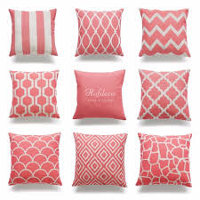 Etsy Throw Pillows Pillows Coral Throw Pillows Etsy Intended For Coral Accent