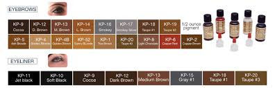 Phibrows Color Chart K P Beauty Products Pigment Color Chart