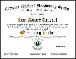 Ordination Certificate Template Pastor Ordination Certificate Template Ordination Certificates For