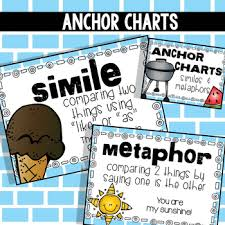 Simile Anchor Chart Similes And Metaphors Anchor Charts And Task Cards