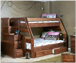 bunk bed with stairs. Image Of: Twin Over Full Bunk Bed With Stairs Plans