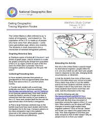 Tracing Migration Routes National Geographic Society
