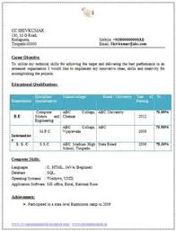 resume for computer science best resume format doc resume computer science engineering cv best