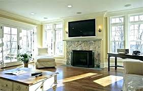 stone fireplace with tv above modern design designs ideas wall electric and
