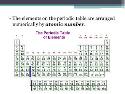 The Periodic Table Chemistry Goal Three. The periodic table is ...