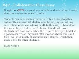 interesting ways to use google forms in the classroom  mrsjgarcia 41 skype conference preparation 43 42 collaborative class essay