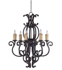 maxim 31005cu richmond 6 light 31 inch colonial umber single tier chandelier ceiling light in without crystals without shade