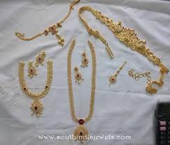 Vaddanam Designs 1 Gram Gold Online Shopping One Gram Gold Bridal Jewellery Sets From Svs Gold Bridal