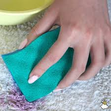 wash the carpet with soapy water