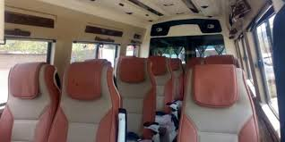 12 seater luxury tempo traveller hire 2x1