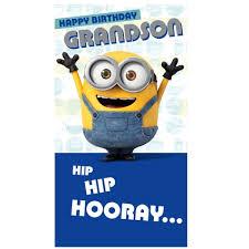 Minion Movie Grandson Birthday Card Danilo