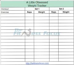 Exercise Tracking Sheet Barca Fontanacountryinn Com
