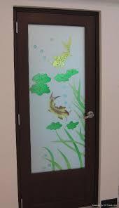 aluminum bathroom door glass panel 5