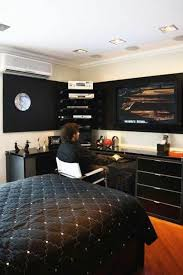 design room decor ideas bedroom bedrooms cool male room decorating ideas with black concept masculine