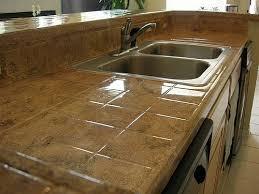 brown tile kitchen countertops