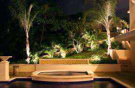 outdoor backyard lighting ideas full size of architect exterior astonishing outdoor living space decoration including cream stone floor and coconut outdoor