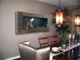 wall mount electric fireplace dining