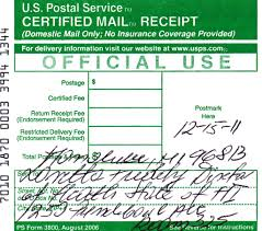 Certified Mail Receipt Subpoena Served On Director Of Health
